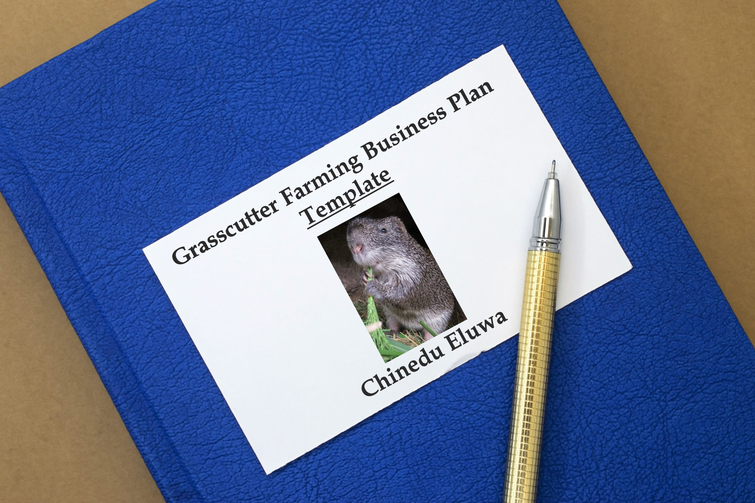grasscutter farming business plan template book cover scaled